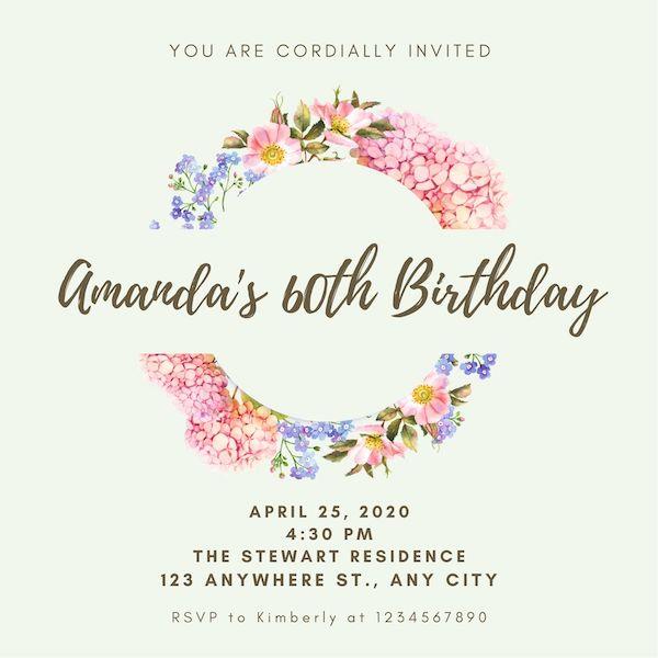 Invitationer fødselsdag voksen gratis 1